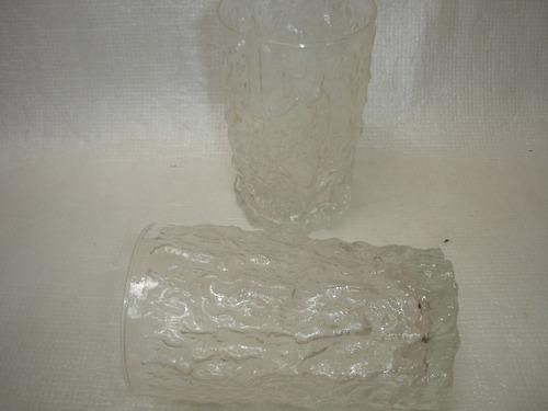 antigo conjunto copos longo vitamina suco craquelado