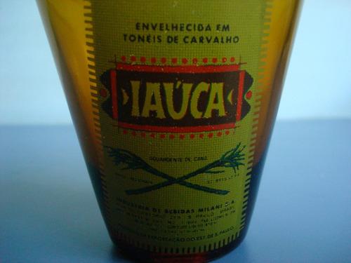 antigo copo da cachaça iaúca da decada de 60