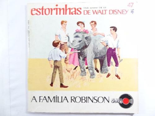 antigo disco estorinhas walt disney a familia robinson!!!
