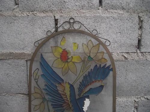antigo e bonito vitral de parede (cod.294)