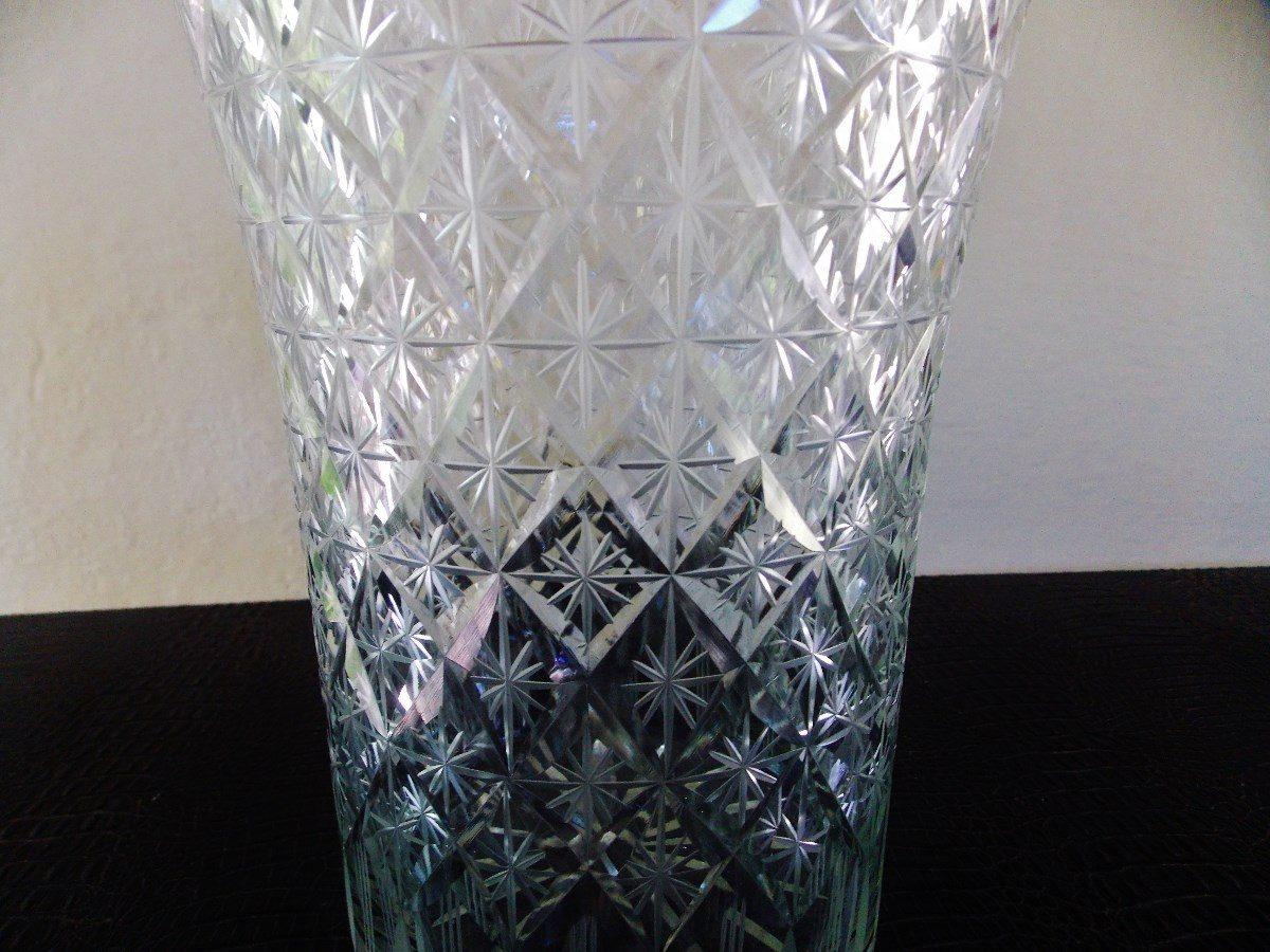 Antigo fino grande vaso de cristal tcheco ricamente lapidado r 500 00 em mercado livre - Vasos grandes cristal ...