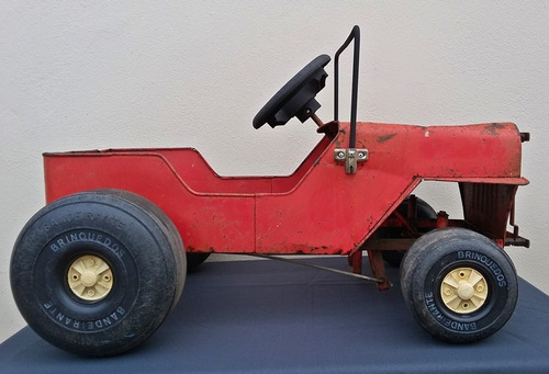 antigo jeep pedal car bandeirantes - carrinho lata austin jr