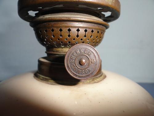 antigo lampião em opalina da tchecoslovaquia