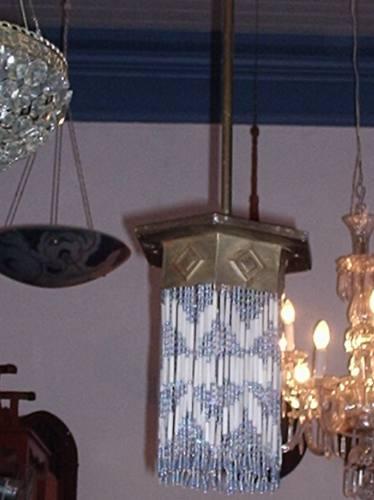 antigo lustre art-déco