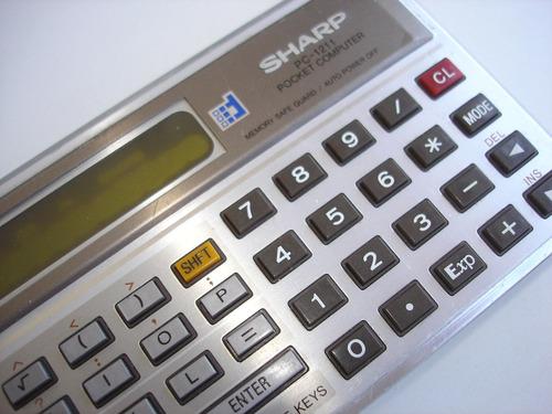 antigo pocket computer pc-1211 sharp - quebrado rest ret pcs