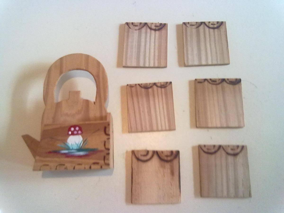 Wakan Wood Artesanato Xamânico ~ Antigo Porta Xicaras De Chá Ou Café Em Madeira Artesanato R$ 15,00 em Mercado Livre