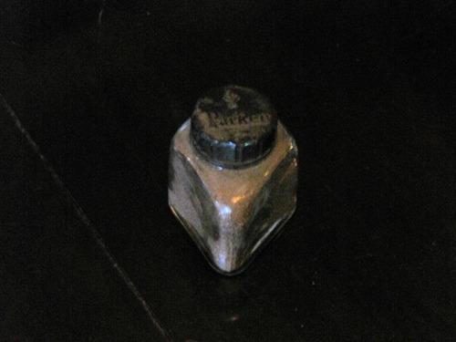 antigo pote em vidro com purpurina #184