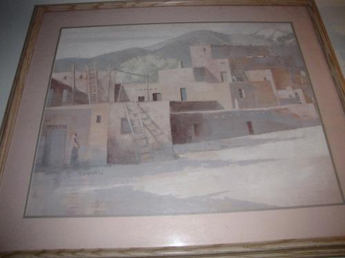 antigo quadro gravura h uruporki #1851