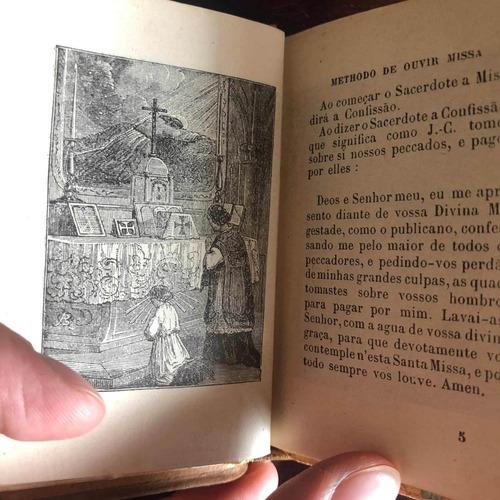 antigo raro missal livro de reza lindas páginas ilustradas
