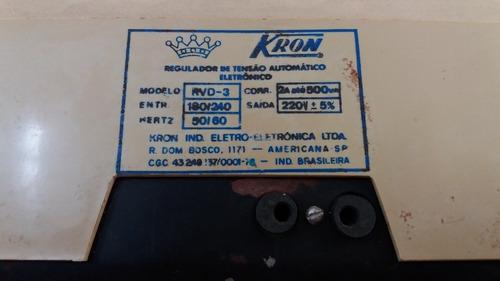antigo regulador de tensão kron (funcionando)