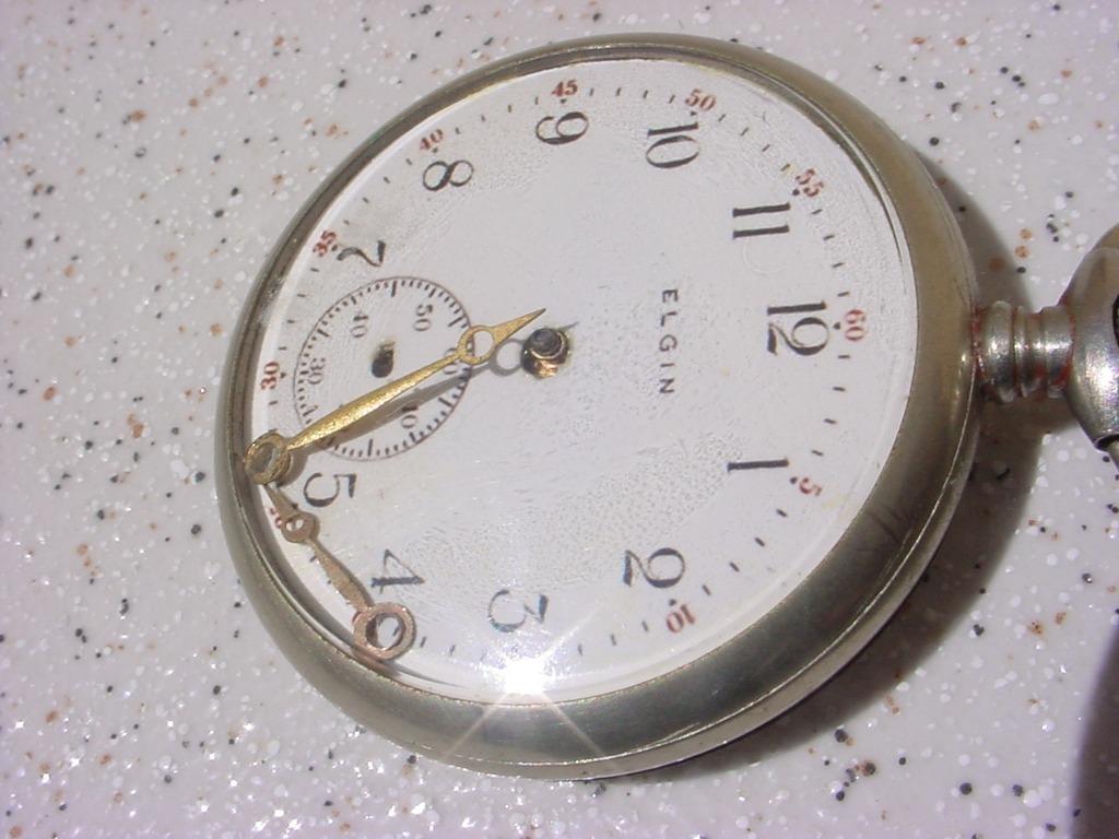 b61c5b234f8 Antigo Relógio Bolso Corda Marca Elgin Ano 1940 (lê Anúncio) - R ...