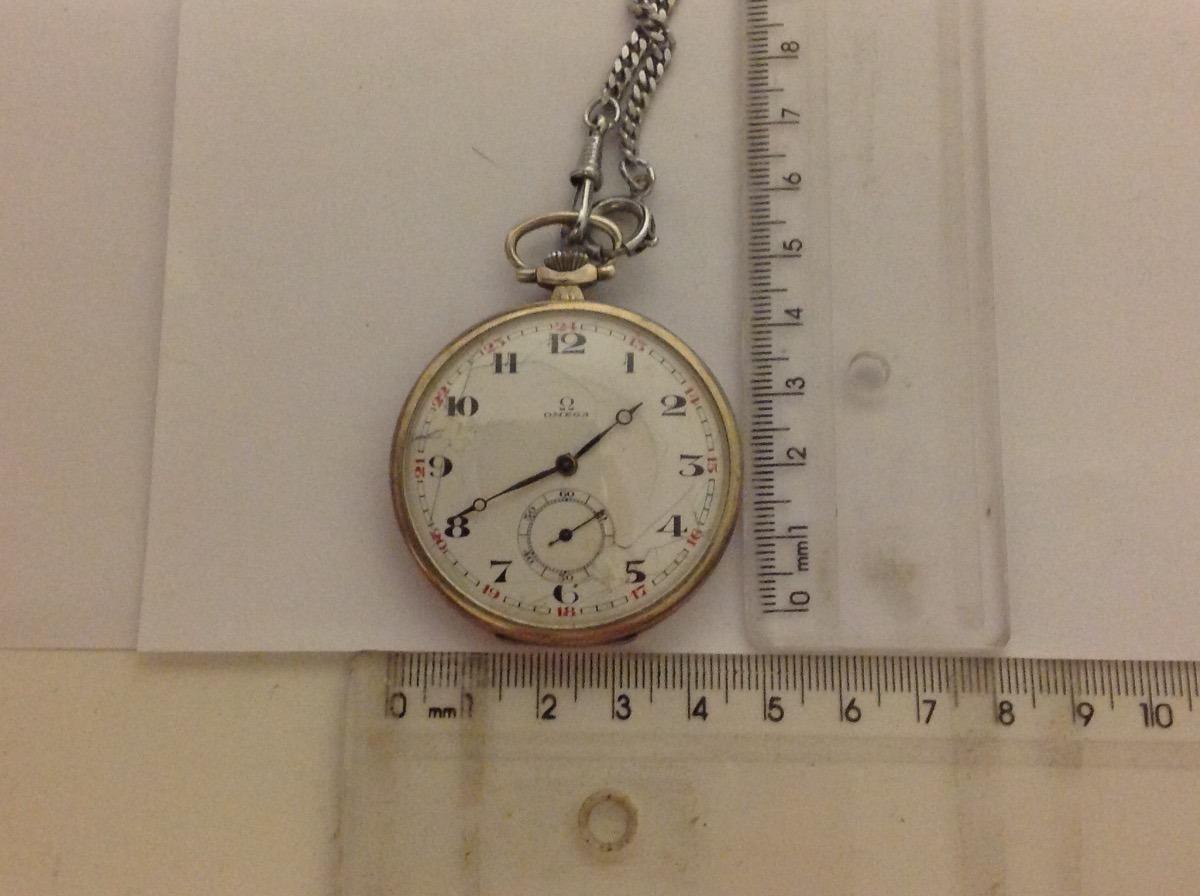 6bfffaa50cc antigo relógio de bolso marca ômega caixa prata de lei      . Carregando  zoom.