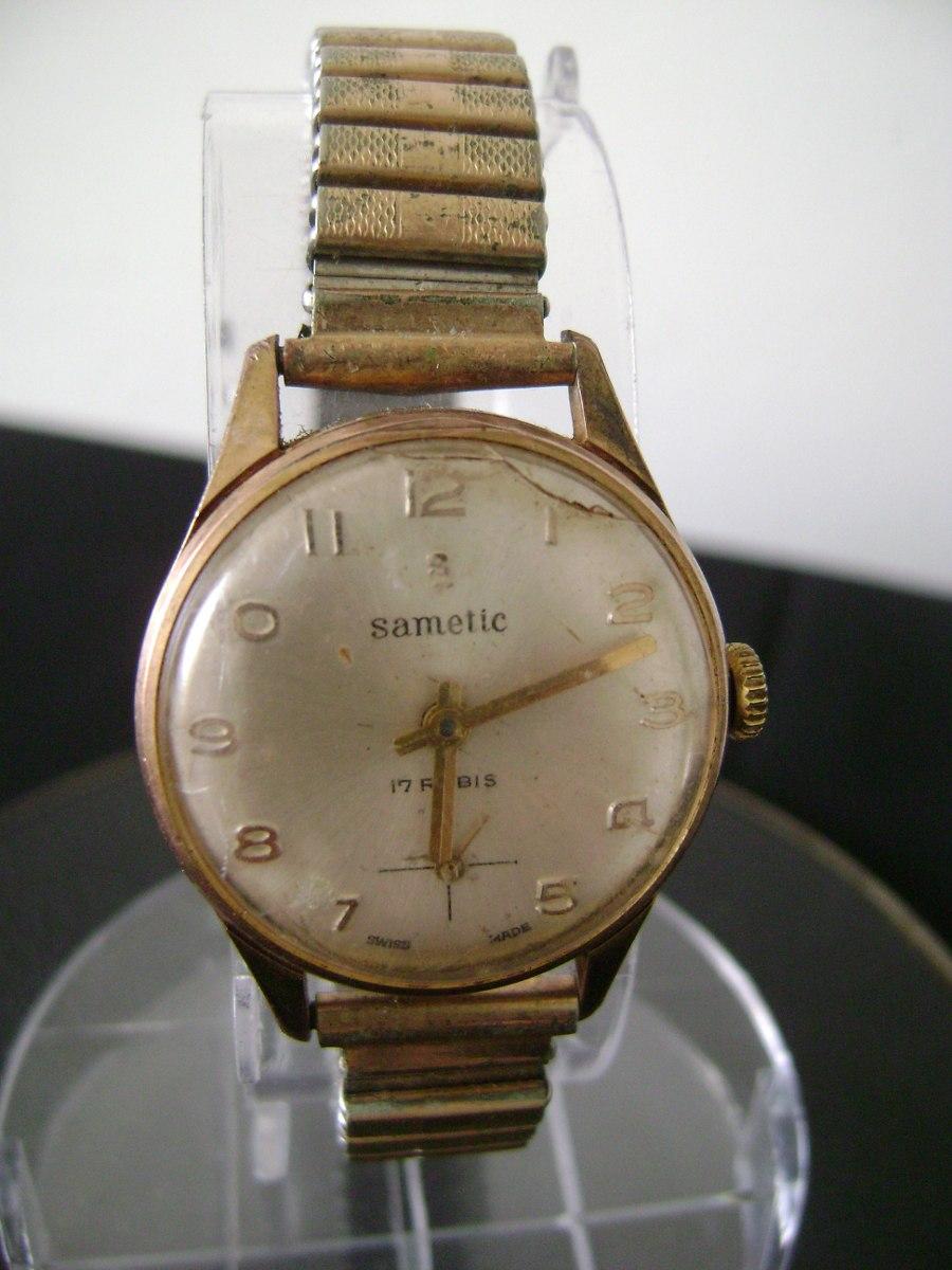 807088da698 Antigo Relógio De Pulso Feminino Em Plaquê De Ouro A Corda - R  180 ...
