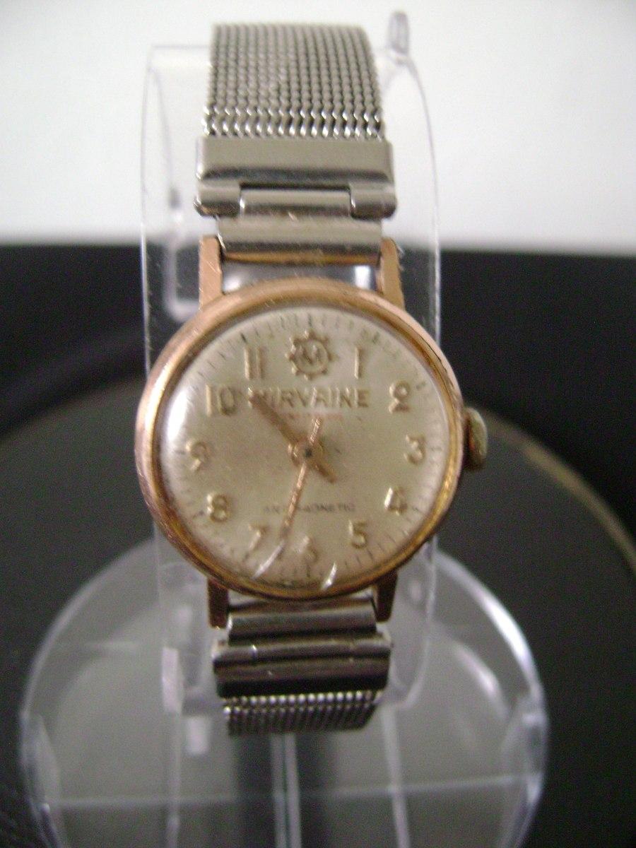 9c8d2bdaa87 antigo relógio de pulso feminino em plaquê de ouro a corda. Carregando zoom.