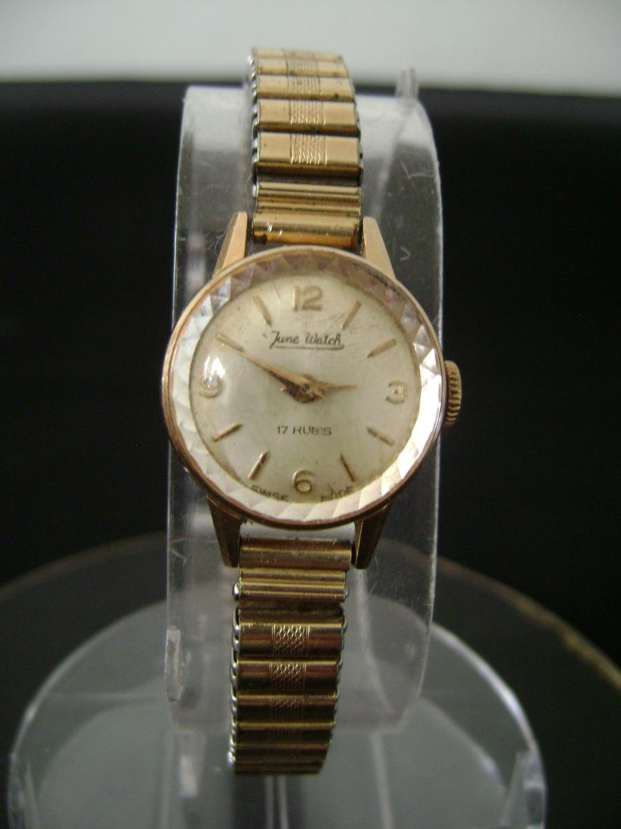 61df574b435 antigo relogio de pulso feminino em plaque de ouro. Carregando zoom.