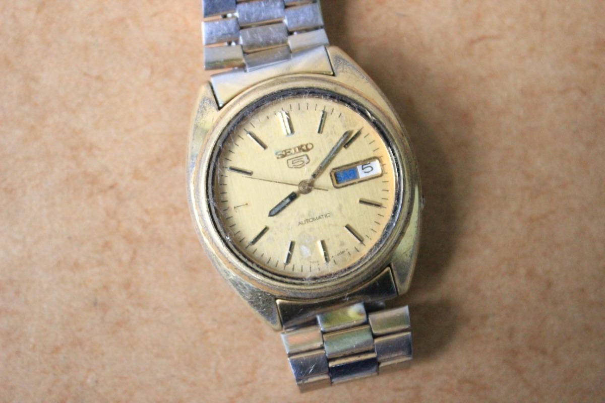 97ee9d68bb7 antigo relógio de pulso seiko 5 automatic 7009 3040. Carregando zoom.
