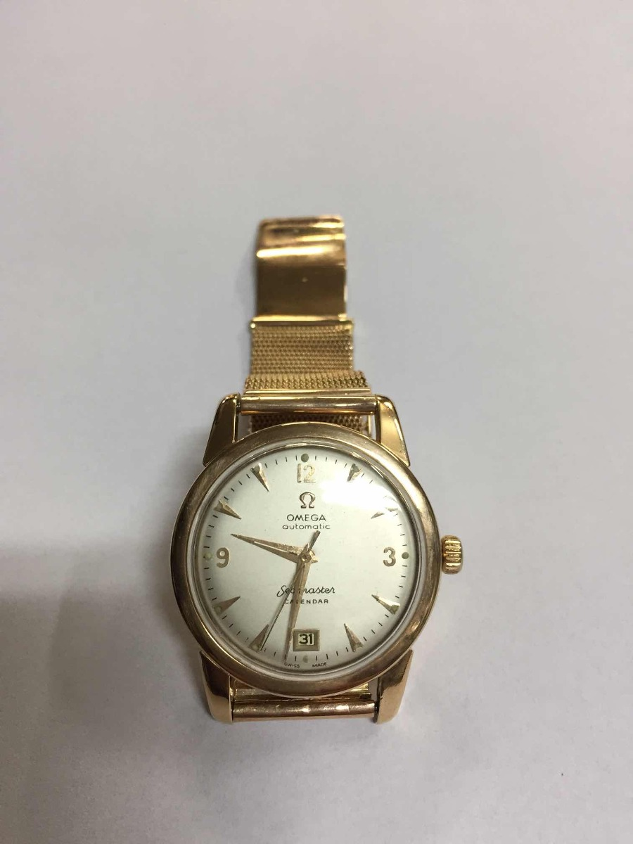 551ab37fd19 antigo relógio omega automatic seamaster calendar ouro 18k. Carregando zoom.