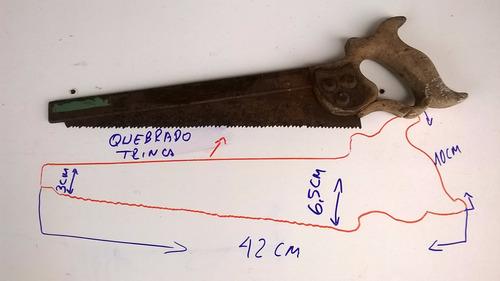 antigo serrote costa inglês greaves sheffield p/ restauro