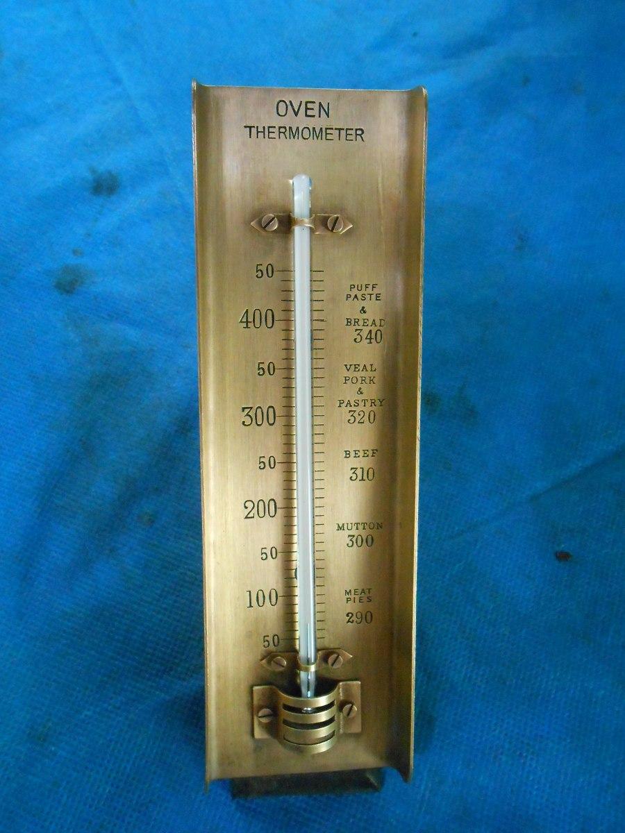 Antigo Termometro De Cozinha De Metal Orven Thernometer R 200 00