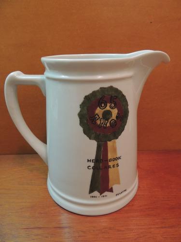 antigo troféu porcelana pintura leila 1972 herd-book collare