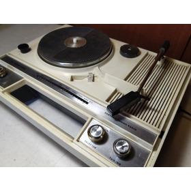Antigo Vitrola, Toca Discos, E Rádio Am Sharp Solid State