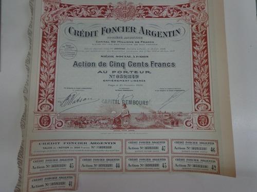 antigua acción francesa credito financiero argentino 1920