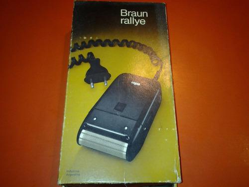 antigua afeitadora electrica braun rallye, usada, funciona,
