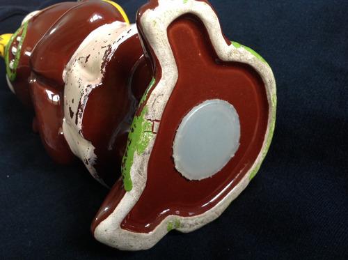 antigua alcancía de cerámica negrito.