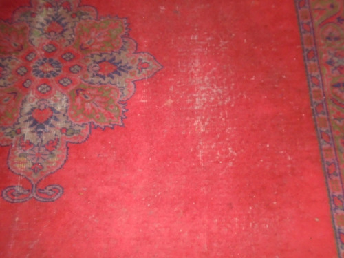 antigua alfombra de lana de 2.40 por 3.50