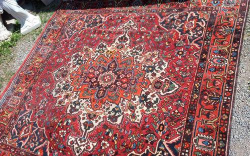 antigua alfombra persa heriz* 310 x 320 cms