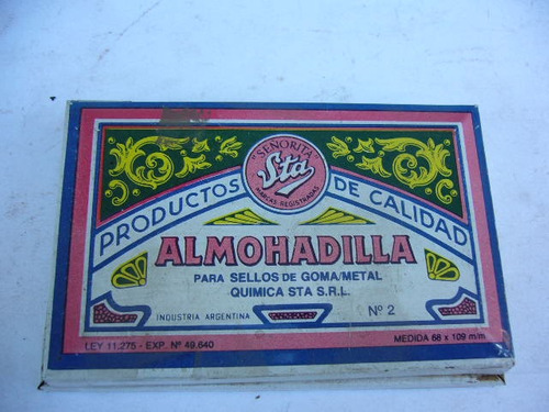 antigua almohadilla para sellos