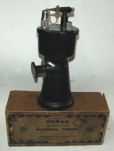 antigua antorcha a alcohol hanau en baquelita usa con caja
