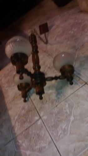 antigua arana de techo lampara colgante de madera