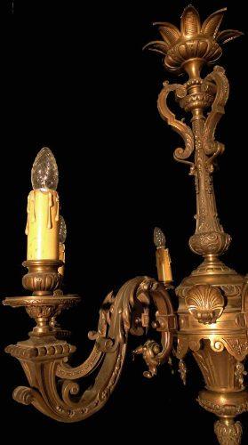 antigua araña fundicion francesa bronce cincelado excelente!