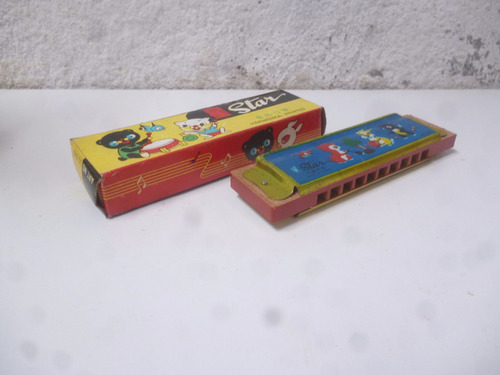 antigua armonica de juguete, coleccionable