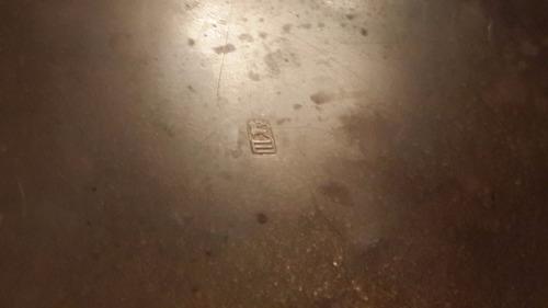 antigua bandeja bronce esmalte erhard & sohne german