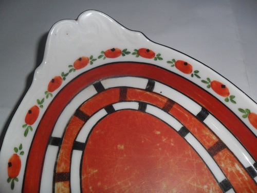 antigua bandeja porcelana sellado p & s czechoslovakia 1789