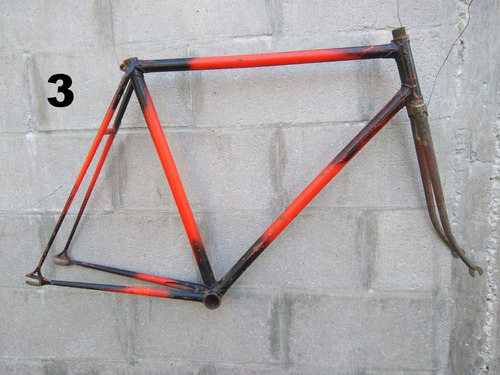 antigua bicicleta cuadro pista