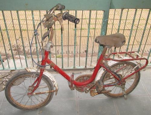 antigua bicicleta plegable de niño/niña, a restaurar