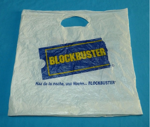 antigua bolsa blockbuster cadena tienda de videos perú