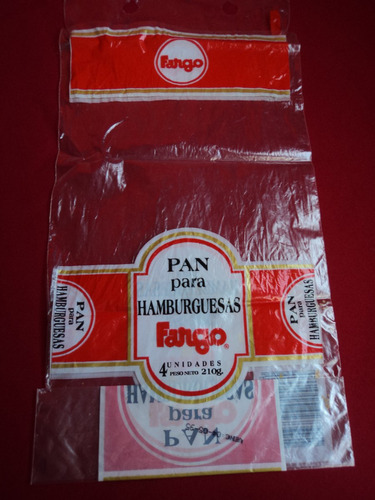 antigua bolsa de pan lactal fargo años 90 vacia retro colecc