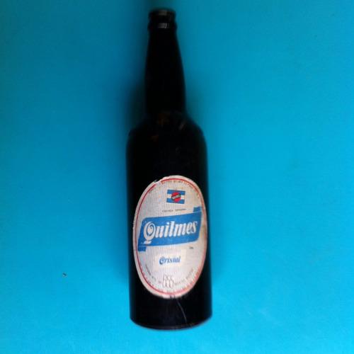 antigua botella de cerveza quilmes, perfecta x 2 unidades