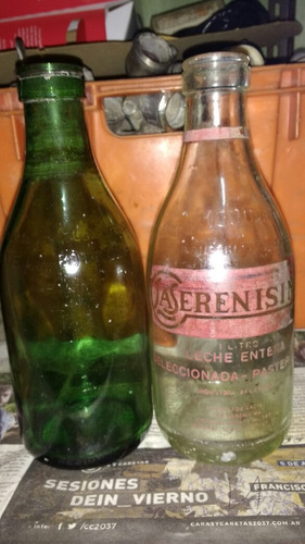 antigua botella de leche la serenisima