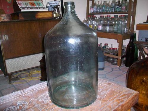 antigua botella de vidrio dama-juana 20 litros, buen estado