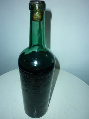 antigua botella decorativa bitter des basques eskualdunen