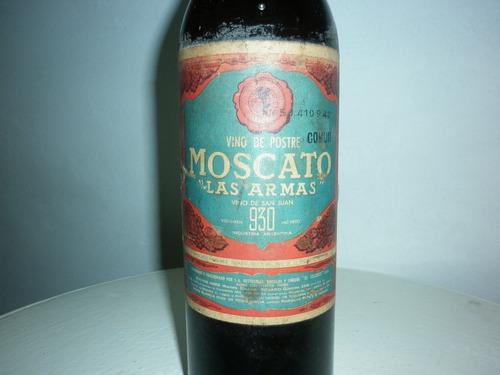 antigua botella decorativa vino moscato las armas