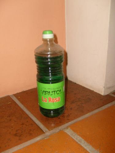 antigua botella plastica de virutol la rosa sin abrir