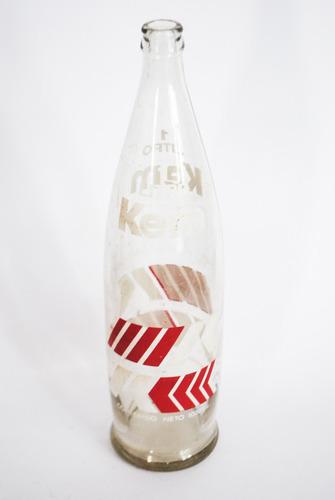 antigua botella vidrio gaseosa kem coleccionable 1 litro !