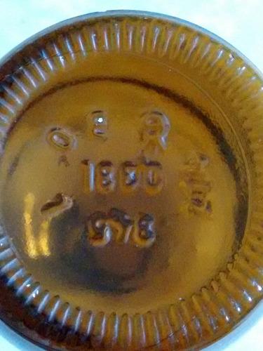 antigua botellita frasco de farmacia sellada