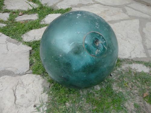 antigua boya de vidrio soplado gran tamaño